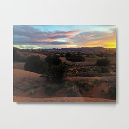 Sandflats Sunset Metal Print