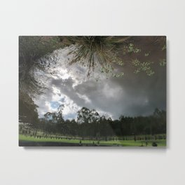 It Turned My World Upside Down Metal Print
