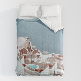 Greece, Santorini View Comforters