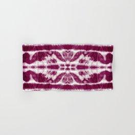 Tie-Dye Burgundy Twos Hand & Bath Towel