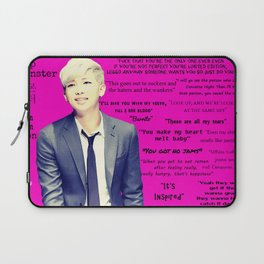 Bangtan Boys Rap Monster Quotes Laptop Sleeve