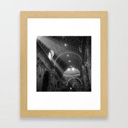 St. Peters After Mass Framed Art Print