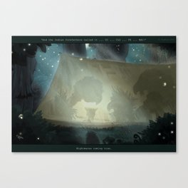 A vulture's nightmare Canvas Print
