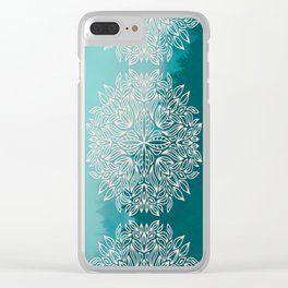 Mandala Forest Dawn Clear iPhone Case