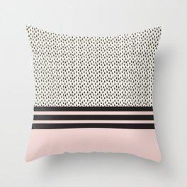 Pink lines Throw Pillow