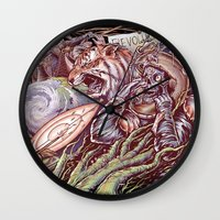 revolution Wall Clocks featuring Revolution by Jeremy Kiraly