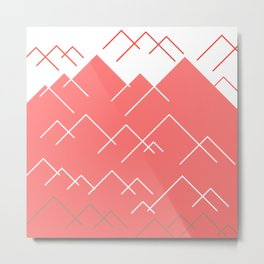 Abstract Mountains Metal Print
