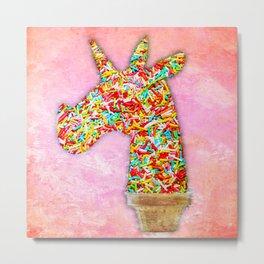 Sprinkled Unicorn Ice Cream Metal Print