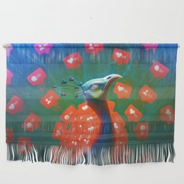 Social Media Peacock Wall Hanging