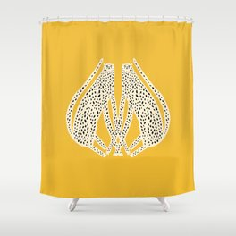 Snow Cheetahs Shower Curtain