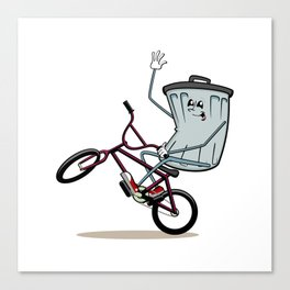 Wheelie Bin Canvas Print