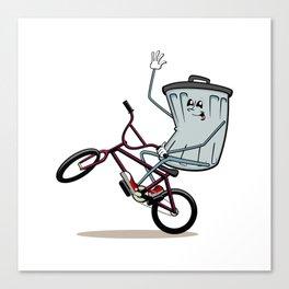 Wheelie Bin Canvas Print