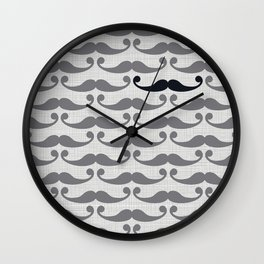 Mustaches Wall Clock