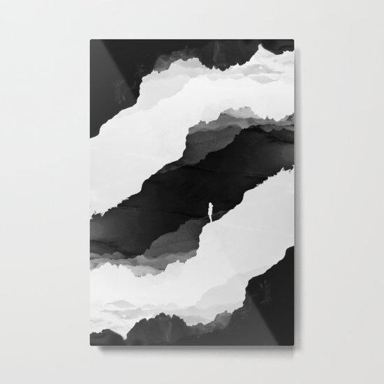 Black Isolation Metal Print