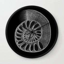 gyre black Wall Clock