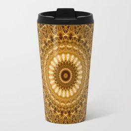 Golden ornamented mandala Travel Mug