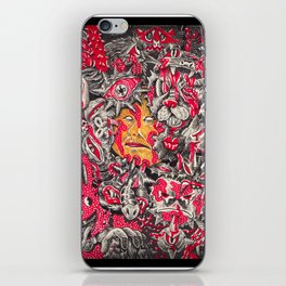 Red monster iPhone Skin