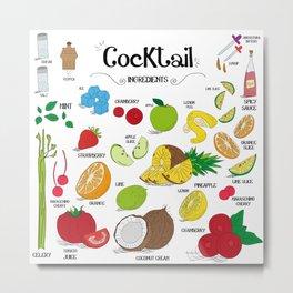 Cocktail Ingredients! Metal Print