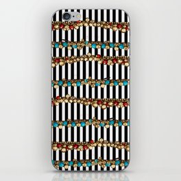 Stripes and beads iPhone Skin