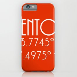 Menton Latitude Longitude iPhone Case
