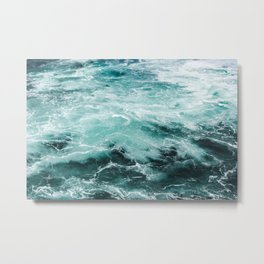 Water Photography | Sea | Ocean | Pattern | Abstract | Digital | Turquoise Metal Print