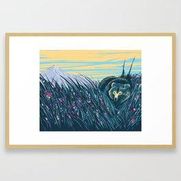 Mountain Flowers Framed Art Print
