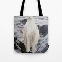 ghost Tote Bags featuring Ghost by John Turck