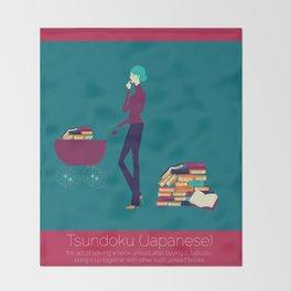 Tsundoku Throw Blanket