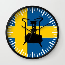 Sweden flag | Pressure stove Wall Clock