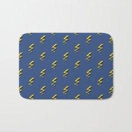 Lightning Bolts - Blue Bath Mat