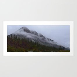Misty clouds on the Brooks Range Art Print