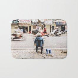 Street Seller in Hanoi, Vietnam Bath Mat