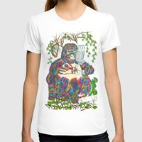 sia T-shirts featuring Vibrant Jungle Gorilla and Pet Cat by famenxt