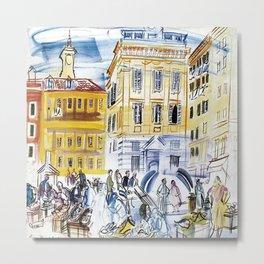Vieux Nice Public Market Metal Print