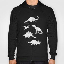 Dinosaurs on Black Hoody