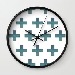 Gradient Water Crosses Wall Clock