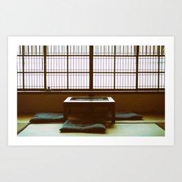 Japanese room Art Print