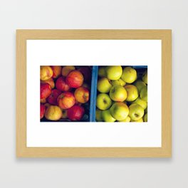 An apple a day. Framed Art Print
