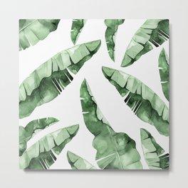 Banana Leaves 2 Metal Print