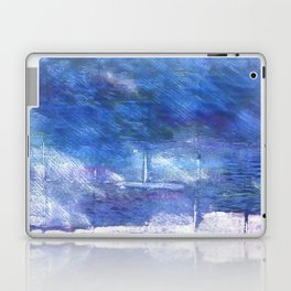 Chinese blue abstract watercolor Laptop & iPad Skin