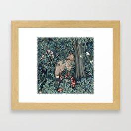 William Morris Forest Fox Tapestry Framed Art Print