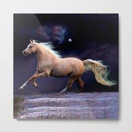 horse galloping Metal Print