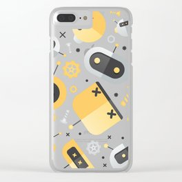 Attack of the Robots: Yellow Clear iPhone Case