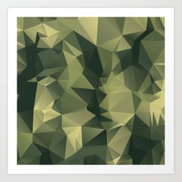 Low-poly camoflauge pattern Art Print