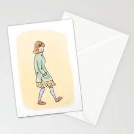 Girl in Jacket Stationery Cards