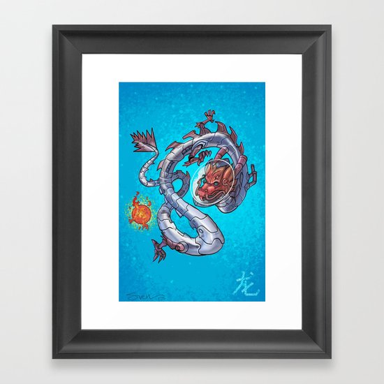 Astro Zodiac Force 05: Dragon Framed Art Print