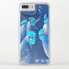 New Chick On The Block In Blue Clear iPhone Case