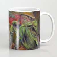 nietzsche Mugs featuring and again and again nietzsche by hankhenry