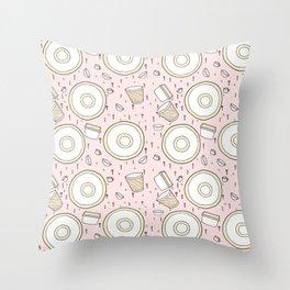 Dish Pattern Throw Pillow