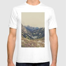 Mountain Flowers White Mens Fitted Tee SMALL
